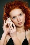красивейшим женщина придавать правильную формуая концом Стоковое Изображение RF