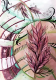 Красивое абстрактное изображение с sprig Стоковые Фото