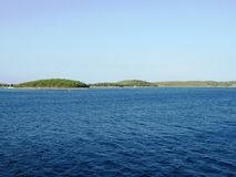 Красивое Адриатическое море, остров Solta Стоковое Фото