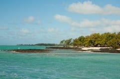 Красивое восточное побережье Маврикия Стоковые Изображения RF