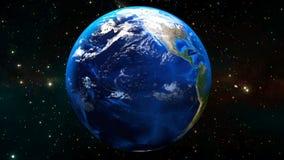 Красивое вращение земли HD 1080 перевод 3d иллюстрация штока