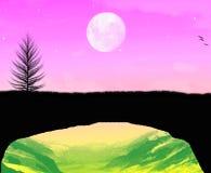 Красивое время лунного света Стоковое Фото