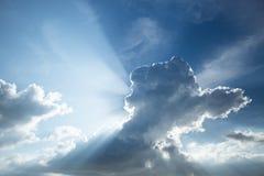 Красивое голубое небо с облаком Стоковые Фотографии RF