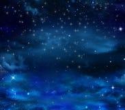 Красивое еженощное небо с звездами Стоковая Фотография RF