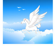 Красивое летание Пегаса Стоковая Фотография RF