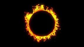Красивое закрепленное петлей кольцо огня HD 1080 Канал альфы сток-видео