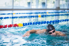 Красивое заплывание человека Стоковые Фотографии RF