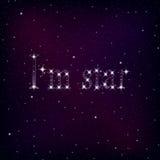 Красивое звездное небо Стоковое фото RF
