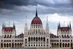 Красивое здание венгерского парламента Будапешта стоковые фотографии rf