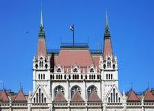 Красивое здание венгерского парламента Будапешта стоковое изображение