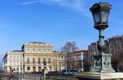 Красивое здание венгерской академии наук основанной в 1825 ¡ n Széchenyi Istvà отсчета budapest стоковые изображения