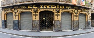 Красивое здание в Барселоне стоковое изображение