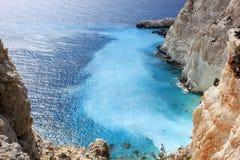 Красивое избежание, Zante, избежание Греции красивое, Zante, Греция Стоковое Изображение RF
