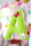 Красивое изображение запаса прописной буквы a цвета вися Стоковая Фотография