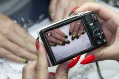 Красивое искусство ногтя Стоковая Фотография