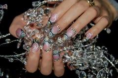 Красивое искусство ногтя Стоковые Фотографии RF