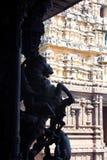 красивое каменное sculpure штендера залы виска Стоковое Изображение RF