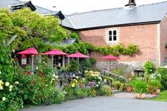 красивое кафе сельской местности в Англии стоковая фотография