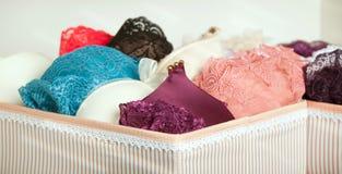 Красивое кружевное нижнее белье в шкафе стоковое изображение