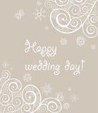 Красивое кружевное приветствие свадьбы Стоковая Фотография