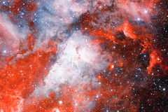 Красивое межзвёздное облако с звездами Элементы этого изображения поставленные NASA Стоковая Фотография RF