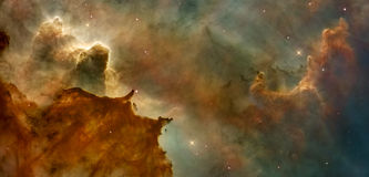 Красивое межзвёздное облако в космосе далеко Заретушированное изображение Стоковое Изображение
