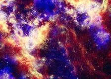 Красивое межзвёздное облако космоса Стоковая Фотография
