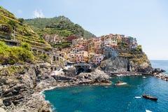 Красивое место Manarola Тосканы стоковое изображение rf
