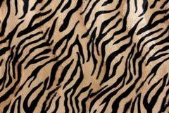 Красивое мех тигра - красочная текстура с апельсином, бежом, и b Стоковое Фото