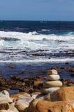 Красивое море на накидке хорошей надежды, Южной Африке стоковое фото