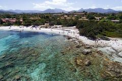 Красивое море Сардинии Стоковое Изображение