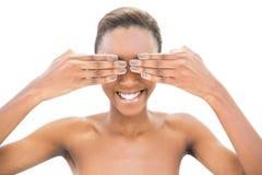 Красивое модельное заволакивание она глаза Стоковое Изображение RF