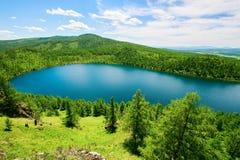 Красивое небесное озеро на горе горба верблюда Стоковая Фотография RF