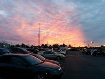 Красивое небо выставки автомобиля Стоковая Фотография RF