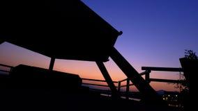 Красивое небо в волшебном часе Стоковая Фотография