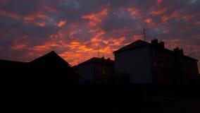 Красивое небо в Словакии Стоковые Изображения