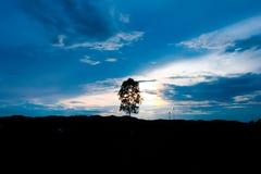 Красивое небо захода солнца восхода солнца для предпосылки Стоковые Фотографии RF