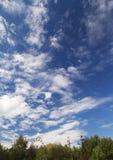 Красивое небо над одним из самого большого парка в Бухаресте Стоковое Изображение RF
