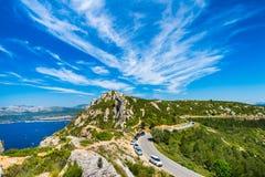 Красивое небо над ` Azur Коута d Стоковое Фото