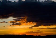 Красивое небо перед заходом солнца вышесказанного Кения стоковое фото rf