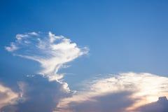 Красивое небо с красивым светом от захода солнца стоковая фотография rf