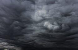 Красивое небо шторма с облаками Стоковое Изображение