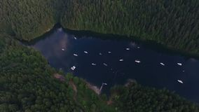 Красивое озеро в Аляске сток-видео