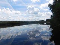 Красивое озеро в Голландии стоковые фотографии rf