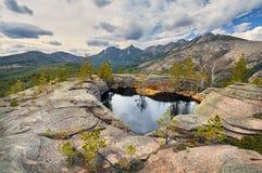 Красивое озеро в Казахстане Стоковые Фото