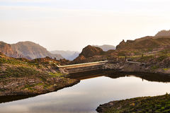 Красивое озеро горы на Канарских островах canaria gran в Испании Стоковое фото RF