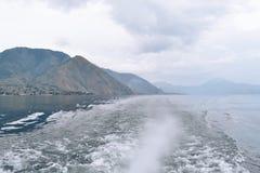 Красивое озеро Индонезия Toba Стоковые Изображения RF