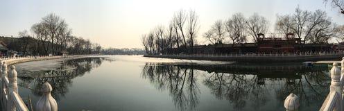 Красивое озеро на houhai Стоковое Изображение RF