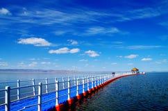 красивое озеро Синьцзян Barkol Стоковое Фото