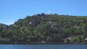 Красивое озеро Como лета видеоматериал